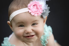 Japanese American Toddler Girl Smiling Royalty Free Stock Photo