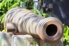 Japanese ancient cannon gun. At Yasukuni Shrine, The Shrine established in the second year of the Meiji era 1869 royalty free stock photography