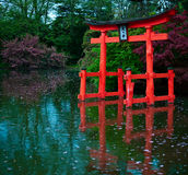 Japanese Ancient Gate. In New York Royalty Free Stock Images