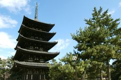 Japanese ancient temple Royalty Free Stock Image