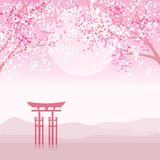 Japanese animation landscape. Royalty Free Stock Image