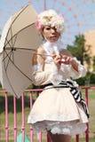Japanese anime character cosplay girl Stock Image