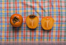 Japanese apple – persimmon Royalty Free Stock Images
