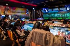 Japanese Arcade in Fukuoka, Japan Royalty Free Stock Photo