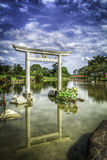 Japanese arch in Singapore Stock Photo
