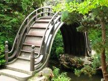 Japanese arched bridge royalty free stock photos
