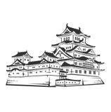 Japanese architecture icon Royalty Free Stock Photo