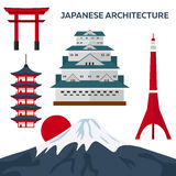 Japanese architecture. Modern flat design. Vector illustration. Japanese architecture. Modern flat design. Vector illustration Stock Photo