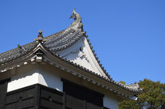 Japanese Architecture. The roof of Kochi Castle, Japan taken Dec 2014 Royalty Free Stock Images