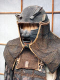 Japanese armor. An ancient japanese samurai armor of past times Stock Photos