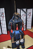 Japanese Armour at the Festival of the Orient in Rome Italy. The Festival of the Orient was held at the Exhibition Centre near Rome Airport at Fumincino on the Stock Image