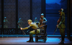 The Japanese Army Da Zuo-The third act of dance drama-Shawan events of the past Stock Photo