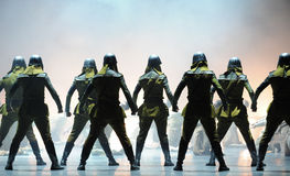 The Japanese Army-The third act of dance drama-Shawan events of the past Stock Photo