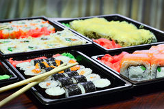 Japanese and Asian food. Royalty Free Stock Images