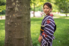 Japanese Asian woman in kimono Stock Photography