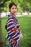 Japanese Asian woman in kimono Royalty Free Stock Image