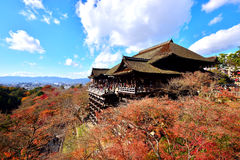 Japanese autumn. Travel at Kiyomizu- dera, Kyoto Stock Images