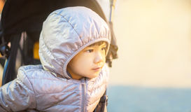 Japanese Baby in a Winter Clothing Royalty Free Stock Photography
