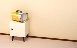 Japanese backdrop with retro tv Royalty Free Stock Images