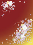 Japanese background. Flower backgorund on Japanese theme Royalty Free Stock Photography