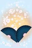 Japanese Background - Stock Illustration. Japanese Background Hanami with Cherry blossoms vector illustration