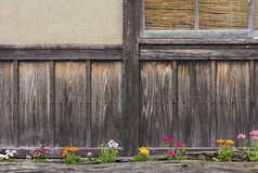 Japanese backyard garden. In rural area in Kyoto, Japan Royalty Free Stock Photo