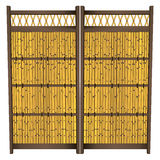 Japanese Bamboo Fence Stock Images
