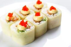 Japanese bamboo rolls Stock Image