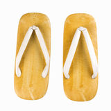 Japanese bamboo slippers Stock Images