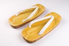 Japanese bamboo slippers Stock Photo