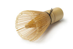 Japanese bamboo tea whisk. On white background Stock Image