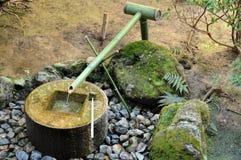 Japanese bamboo water fountain Stock Image