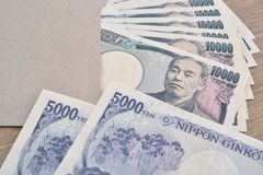 Japanese banknotes Royalty Free Stock Images