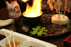 Japanese Barbecue. Oriental barbecue Dish Royalty Free Stock Photography