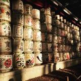 Japanese barrels Royalty Free Stock Images