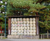 Japanese Barrels of Sake Stock Photos
