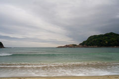 Japanese Beach. A shot of the Pacific ocean on the island of Shikoku, Japan Royalty Free Stock Images