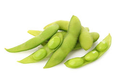 Japanese beans on white background Royalty Free Stock Photography