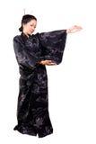 Japanese Beauty. Wearing traditional kimono royalty free stock photo
