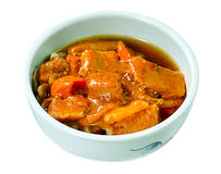 Japanese beef curry food isolated  Stock Image