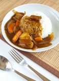 Japanese beef curry rice Stock Photo