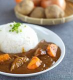 Japanese beef curry rice Stock Photos