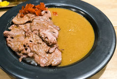 Japanese beef curry tasty in plate Stock Photo