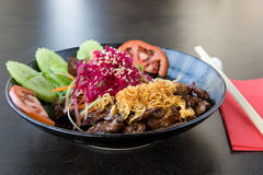 Japanese beef meal Royalty Free Stock Photo