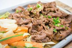 Japanese beef teriyaki grill Stock Images