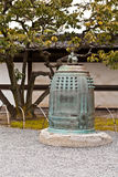 Japanese bell in garden Royalty Free Stock Image
