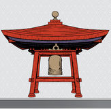 Japanese bell shelter Stock Photos