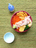 Japanese Bento box, gourmet seafood Royalty Free Stock Image