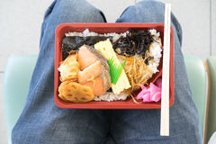 Japanese bento convenient and ready to eat Stock Image