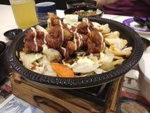 Japanese cuisine. Japanese bento set Stock Images